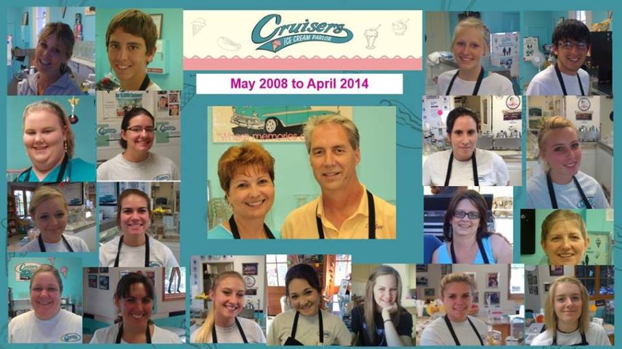 Cruisers Ice Cream Parlor Team