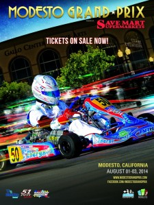 The City of Modesto, in conjunction with Save Mart Supermarkets and the DoubleTree Hotel, is honored to be hosting the 5th Annual Superkarts! USA Pro Tour  SummerNationals event August 1-3, 2014. Modesto will welcome approximately 275-300 SKUSA racers from all over North America and present them with an exciting downtown street circuit dubbed the Modesto Grand Prix. The combination of the increasing numbers on the SKUSA Pro Tour, along with the uniqueness of a brand new street race, could position the 2014 SummerNationals as one of the biggest karting events in North America. Every year, the turnout at the SummerNats has increased, and more are expected to travel to the Modesto Grand Prix in 2014. The race is already gaining impressive support from local and regional businesses, community groups and racing enthusiasts. It is anticipated that the Modesto Grand Prix could attract more than 15,000 people over the three day event with more than 780 hotel rooms booked each night with area restaurants at capacity – all of which could result in approximately $1.2 million directly infused into the Modesto-area economy with an estimated total economic impact of $5 million. Mark your calendars now for August 1-3, 2014 and be part of the biggest racing event around.